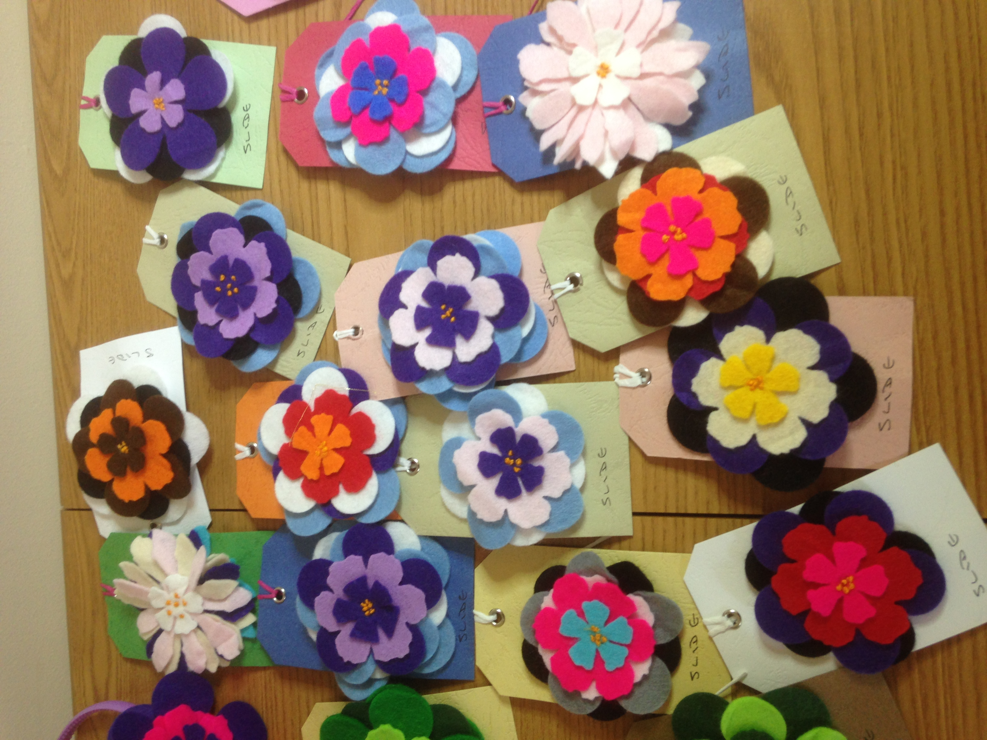 cath pollard felt flowers1